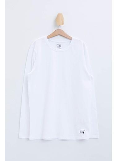 DeFacto Basic Uzun Kollu T-shirt Beyaz